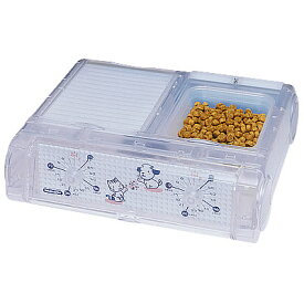 山佐時計計器(YAMASA) 自動給餌器 わんにゃんぐるめ(小型犬・猫兼用/2食分)<クリア> CD-400 534026