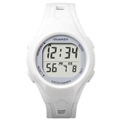山佐時計計器(YAMASA) クォーツ腕時計型歩数計 ウォッチ万歩計 WATCH MANPO<ホワイト×シルバー> TM-400 554024