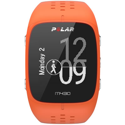POLAR(ポラール) 手首型6LED光学式心拍計・GPSランニングウォッチ M/Lサイズ M430 <オレンジ> 0725882038803【送料無料】【smtb-K】