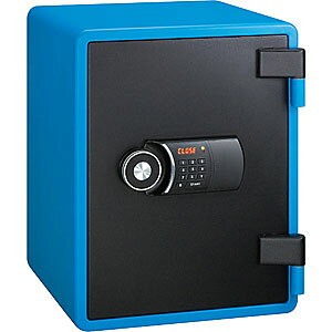 【据付設置費無料】EIKO(エーコー)耐火金庫<テンキー>YES(イエス・カラーセーフ)ブルー YES-031DBL 800066【送料無料】