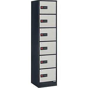 【据付設置費無料】EIKO(エーコー)貴重品保管庫 ReZERO LOCK<数字合わせ式>1列6段 6人用 LK-406