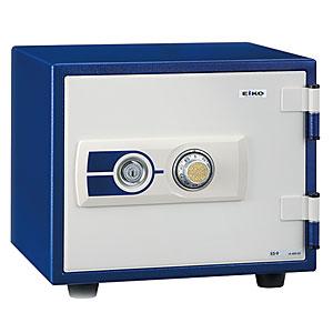 【据付設置費無料】EIKO(エーコー)耐火金庫<ダイヤル>ブルー ES-9BL 600482