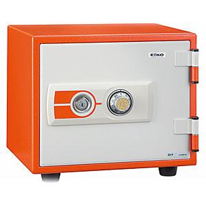 【据付設置費無料】EIKO(エーコー)耐火金庫<ダイヤル>オレンジ ES-9YR 600499