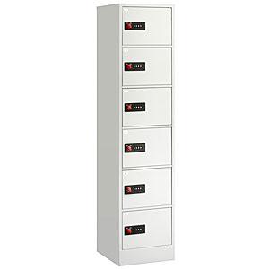 【据付設置費無料】EIKO(エーコー)貴重品保管庫 ReZERO LOCK<数字合わせ式>1列6段 6人用 LK-406W