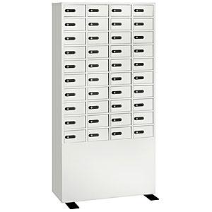【据付設置費無料】EIKO(エーコー)貴重品保管庫<数字合わせ式>4列10段 40人用 LK-340 830568