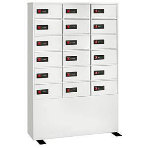 【据付設置費無料】EIKO(エーコー)貴重品保管庫 ReZERO LOCK<数字合わせ式>3列6段 18人用 LK-418 830575