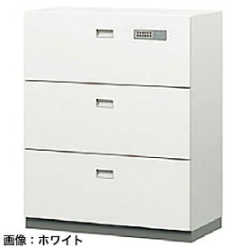 ITOKI(イトーキ) シンラインセーフ 大3段耐火キャビネット<テンキー>ホワイトグレーW GEM-10BCN3-WE