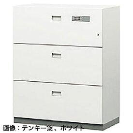 ITOKI(イトーキ) シンラインセーフ 大3段耐火キャビネット<小判錠>ホワイトグレーW GEM-10ECN3-WE