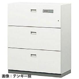 ITOKI(イトーキ) シンラインセーフ 大3段耐火キャビネット<小判錠>ホワイトW GEM-10ECN3-W9
