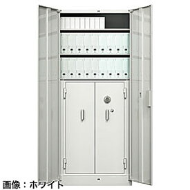 ITOKI(イトーキ) シンラインキャビネット耐火金庫組込型<ダイヤル>ホワイトグレーW HTM-219HEN4-WE