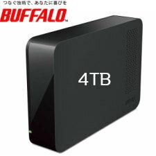 (単品限定購入商品)【送料無料】バッファロー USB3.1(Gen1)/USB3.0用 外付けHDD 4TB ブラック HD-NRLC4.0-B