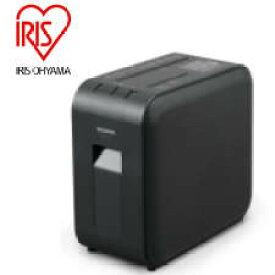 【送料無料】アイリスオーヤマ 超静音細密 パーソナルシュレッダー マイクロカット(2x11mm) メディアカット(CD/DVD/BD) 静音(空転時45dB) ダストボックス7.5L(A4用紙100枚) サイズ175x351x316mm ブラック  P4HMS-B