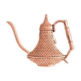 ピンズ ピン バッジ ブローチ (金 ゴールド アンティーク風 大 ポット コーヒー お茶 紅茶 ) 送料無料