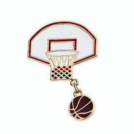 ピンズ ピン バッジ ブローチ (バスケット バスケ ボール ゴール) 送料無料