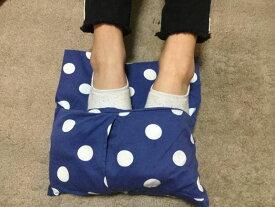 ぬか玄米カイロ(足先温め用)足を挟んで温めるから、足の裏も甲もぽっかぽか。足先が冷えて眠れない夜に。座ってて足が寒いときに。レンジでチンすれば、繰り返し使えます。