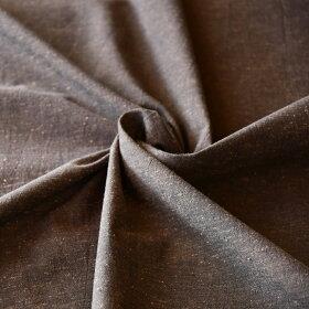 50cm単位水通し不要【広巾】遠州綿紬無地紬胡桃染(くるみ)120cm巾