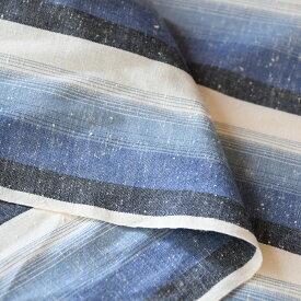 50cm単位水通し不要 【広巾】遠州綿紬 富士(ふじ)120cm巾