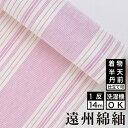 遠州綿紬 S-46 -花桜(はなざくら)-綿 着物 洗える着物 大人可愛い おしゃれな きれいめ