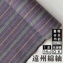 生地/縞紬 S-8 -桔梗(ききょう)- 木綿反物