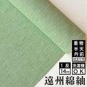ネップ&スラブ 若緑 木綿反物【送料無料】