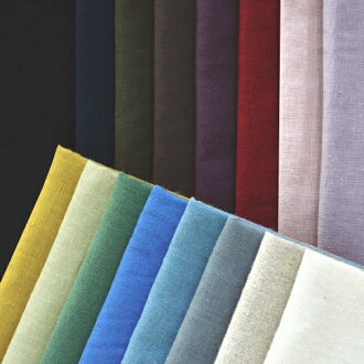 YUWA ハーフリネン natural color solid color / fabric cloth cotton linen solid color craft