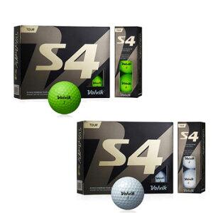 Volvik 2019 S4 ボール 1ダース(12個入り) [Golf ボルヴィック GOLF ホワイト グリーン ゴルフ]