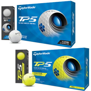 テーラーメイド 2021 NEW TP5 ボール 1ダース(12球入り)ホワイト/イエロー 日本仕様 [Taylormade リッキー・ファウラー ダスティン・ジョンソン ローリー・マキロイ ジェイソン・デイ