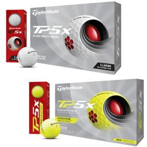 テーラーメイド 2021 NEW TP5x ボール 1ダース(12球入り)ホワイト/イエロー 日本仕様 [Taylormade リッキー・ファウラー ダスティン・ジョンソン ローリー・マキロイ ジェイソン・デイ