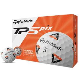テーラーメイド 2020 New TP5 pix ボール 1ダース 日本仕様 [Taylormade リッキー ファウラー 12球入り アライメント 5ピース ゴルフ]【あす楽対応】