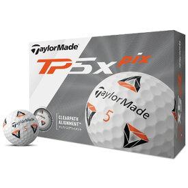 テーラーメイド 2020 New TP5x pix ボール 1ダース 日本仕様 [Taylormade リッキー ファウラー 12球入り アライメント 5ピース ゴルフ]【あす楽対応】