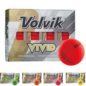 Volvik 2020 VOLVIK NEW VIVID NP ボール 1ダース(12個入り) [Golf ボルヴィック ヴィヴィッド V・A・S グリーン、レッド、オレンジ、ピンク、レモンイエロー アライメント ゴルフ]