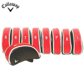 キャロウェイ デラックス アイアン ヘッドカバー 9個セット #4 #5 #6 #7 #8 #9 P A S 表示 US仕様 Black/Red/White [Callaway Deluxe Iron Headcovers アイアンカバー ゴルフ]