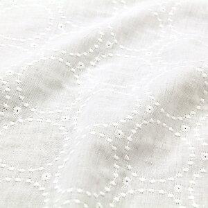 生地 無地 ダブルガーゼ リングレース-GW10509 ダブルガーゼ生地 ( 無地生地 Wガーゼ baby スタイ ワンピース スカート マスク 刺繍 ) 50cm単位