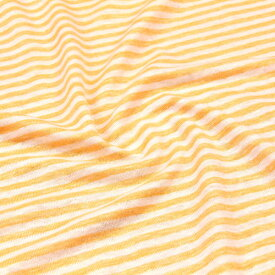 ≪価格ダウン≫生地 リネン100% ストライプ LINENボーダー ≪メルマガ商品≫ ニット生地 ( スカート チュニック 服地 ハンドメイド ベビー キッズ ) 50cm単位