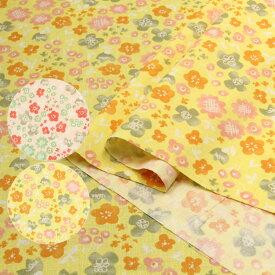Dessin de fleurs シーチング生地 ( ハンドメイド 雑貨 インテリア パッチワーク ブラウス チュニック 花柄 フラワー ) 50cm単位