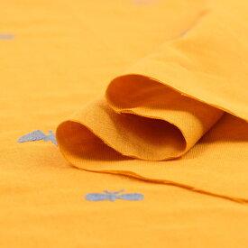 ちょうちょ、蝶々≪刺繍≫ ダブルガーゼ生地 ( Wガーゼ シャツ 刺繍 ワンピース パジャマ おくるみ マスク ) 50cm単位