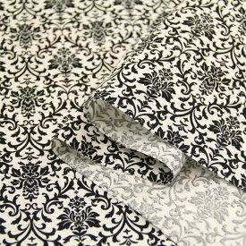 ダマスク シーチング生地 ( ハンドメイド 雑貨 インテリア 内袋 ブラウス チュニック 花柄 フラワー ) 50cm単位