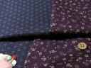 和風コットン生地・リバーシブル 桜と麻の葉(紫/濃紺)【RCP】
