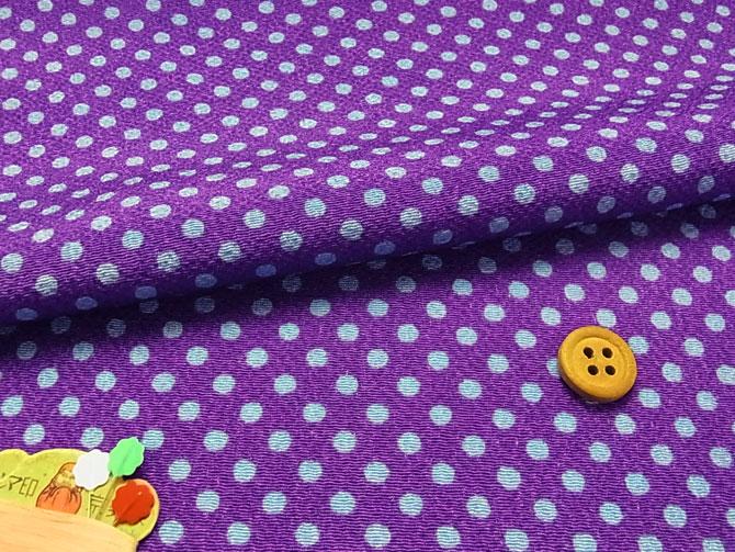 ちりめん生地・みずたま(紫)【RCP】
