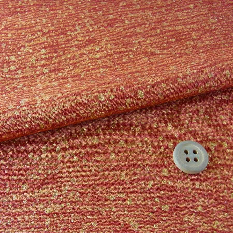 小幅ちりめん生地・干支向き 木目調横縞柄(赤茶色)【RCP】