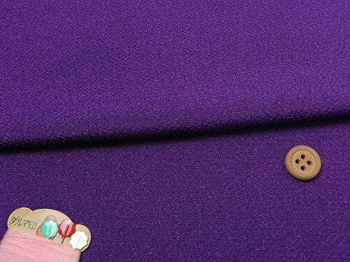 無地ちりめん生地(紫)【RCP】