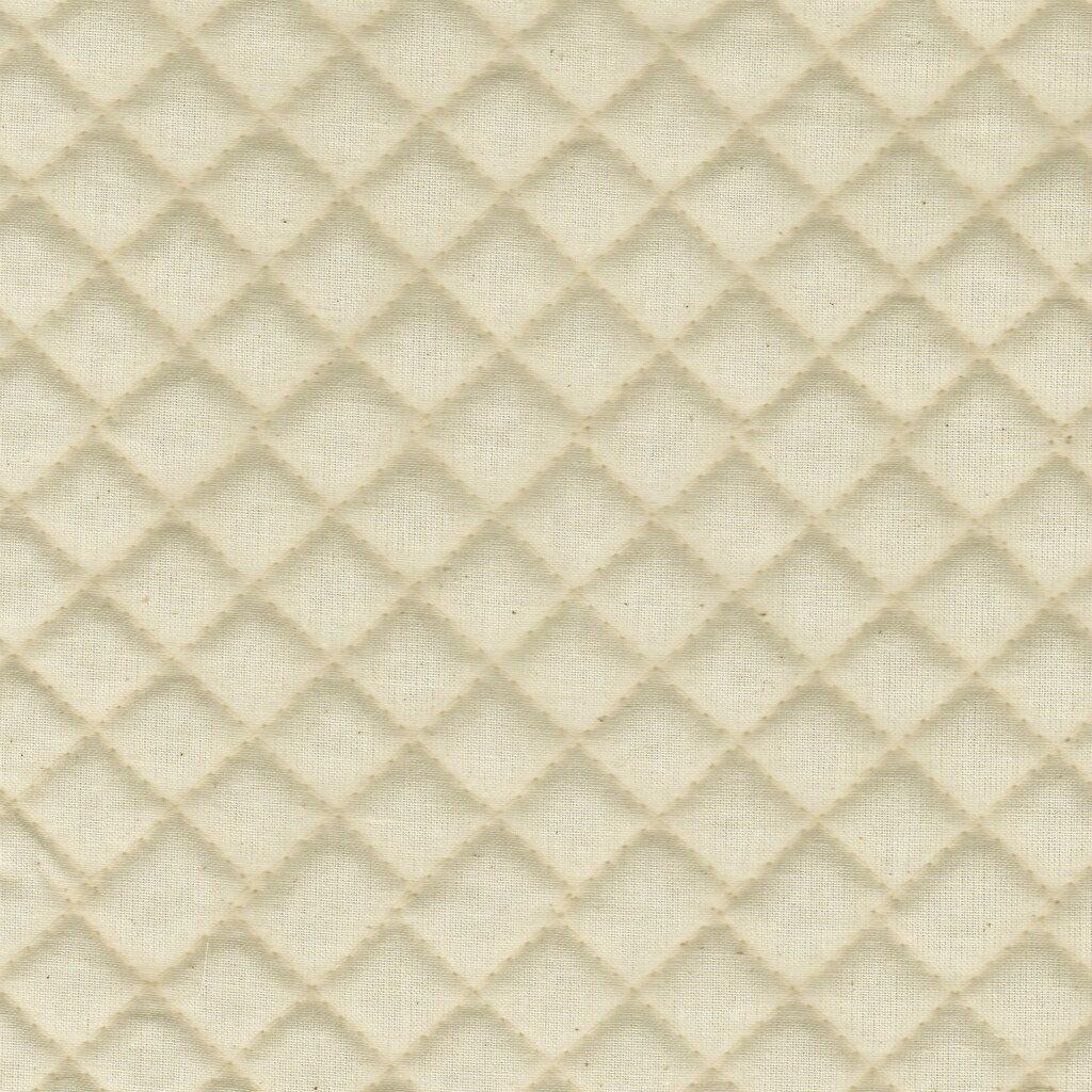 1m単位切り売り 綿シーチング キルティング 小マス目 全針 生成色