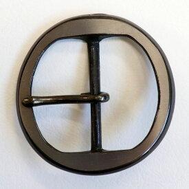 中一 丸 ブラック グレー バックル 5cm幅 ベルト用 日本製【ネコポス対応】【バックル】【袋入り】【年代物】【アウトレット】【RCP】