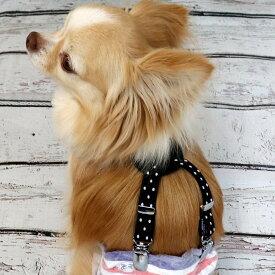 犬 サスペンダー 小型犬用 ドット ゴム 牛革 NOMURA 日本製 マナー ベルト 可愛いパッケージ【ネコポス対応】【ダイヤクリップ】【新作】【RCP】