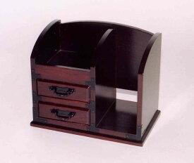 木製 タンス 【黒檀塗】 二ツ引 電話台【インテリア】【セール品】【現品限り】