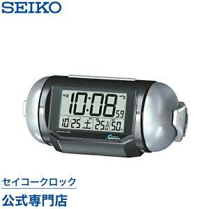 SEIKOギフト包装無料 セイコークロック SEIKO ピクシス 目覚まし時計 置き時計 電波時計 NR523K スーパーライデン 大音量 デジタル 音量切替 カレンダー 温度計 湿度計 おしゃれ【あす楽対応】【