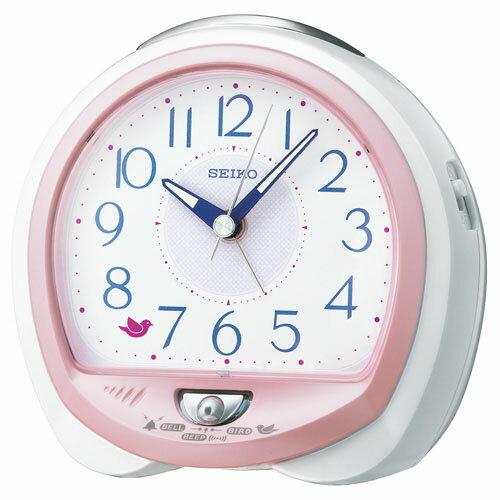 SEIKOギフト包装無料 セイコークロック SEIKO 目覚まし時計 置き時計 QM745P セイコー目覚まし時計 セイコー置き時計 スイープ 鳥の鳴き声 アラーム音切替式 おしゃれ【あす楽対応】【ギフト】