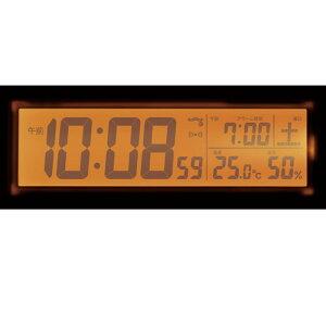 セイコーSEIKO目覚まし時計置き時計SQ762W電波修正デジタル常時点灯ライト機能カレンダー温度計湿度計【楽ギフ_包装】【楽ギフ_のし宛書】【楽ギフ_名入れ】