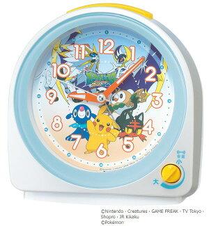 セイコークロックSEIKOキャラクター目覚まし時計置き時計CQ149Wセイコー目覚まし時計セイコー置き時計ピカチュウポケットモンスターサン&ムーンスイープおしゃれかわいい【あす楽対応】