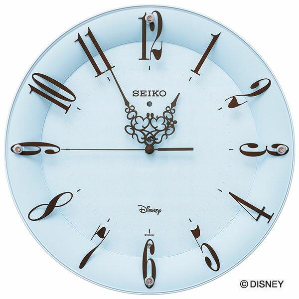 セイコークロック SEIKO ディズニー 掛け時計 壁掛け 電波時計 FS801L 大人ディズニー ミッキー ミニー ミッキー&フレンズ キャラクター スイープ おしゃれ かわいい 【Disneyzone】【送料無料】【あす楽対応】